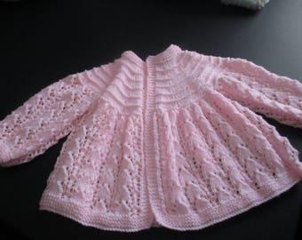 Pink baby cardigan
