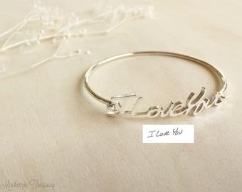 Custom Handwriting Bangle - Personalize Signature Bangle - Signature Bangle - Personalized Handwriting Bangle - Christmas Gift