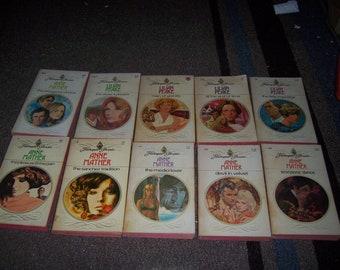 10 Vintage Harlequin romance novels Lilian Peake Anne Mather more Dime Novels