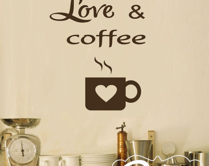 Kitchen Wall Decal Coffee Decal- Kitchen Decal Kitchen Art- Coffee Decoration Coffee Decor Kitchen-Kitchen Coffee Decor