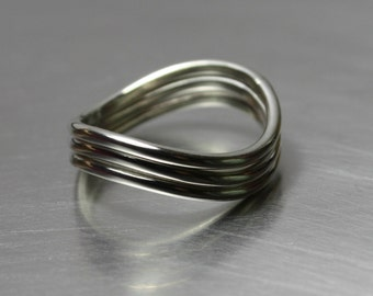 Stacking Rings, Set of 3, Silver