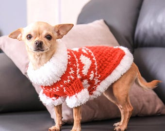 Yorkshire terrier clothes Puppy sweater Dog sweater small Chihuahua sweater Handmade dog clothes Pull petit chien Handmade dog sweater