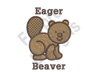 Eager Beaver - Machine Embroidery Design