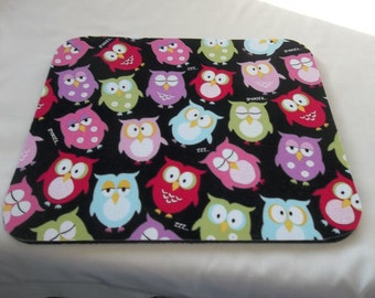 Mouse Pad, Owls, Snooze Owls, Handmade, Gift, Office Decor, Desk Accessory, Rectangle, Mouse Pads, MousePad, Computer Mouse Pad, Mouse Mat