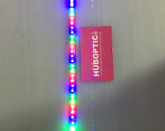 "8"" Cosplay LED props Rainbow light sequence lighting strip Costume Robot Anime Miku Dress Fantasy Lights"