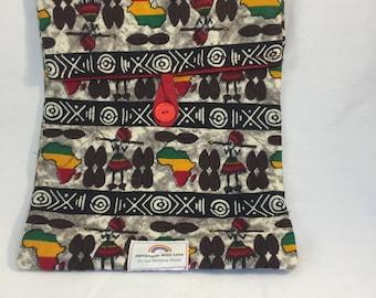 Padded Ipad sleeve- Traditional African Fabric