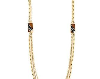 Lanvin Gold Tone Sautoir Necklace