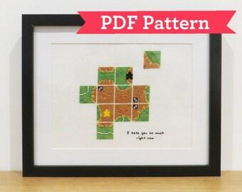 Carcassonne Hate Cross Stitch Digital PDF Pattern