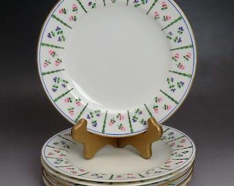 """Fine c1910 set 5 Minton Floral Hand Painted Salad / Dessert Plates 7 5/8"""""""