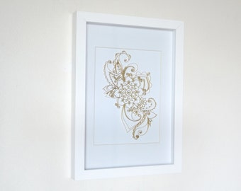 Quilled Mandala Art, Paper Quilling Art Frame, Hanging Wall Art, Quilled Art Frame, Quilled Mandala, Home Decor, Paper Art Frame, Framed Art