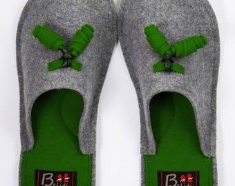 Wool Felt Warm Home Slippers