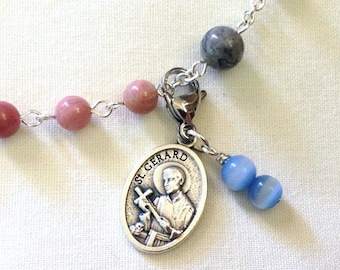 St Gerard Rosary Marker, Rosary Place Keeper, Rosary Place Holder, Expectant mother gift, Pregnancy gift, Catholic baby shower gift
