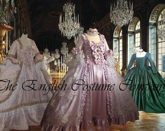 C/ Marie Antoinette dress  18th century Versailles Venice Our beautiul custom made Georgian gowns