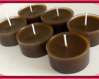 Tealight Candles - Set of 6 - Cappuccino Hazelnut - Free U.S. Shipping