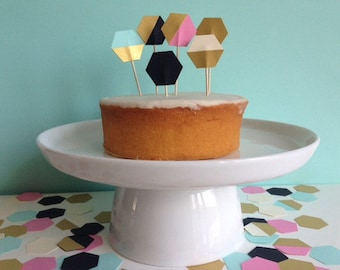 Geometric party Cake Toppers