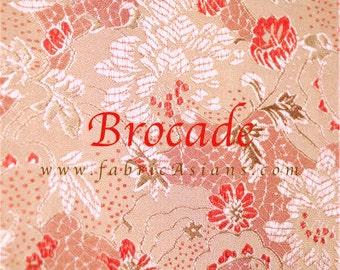 Pink Brocade chrysanthemum. Buy Asian Fabric online