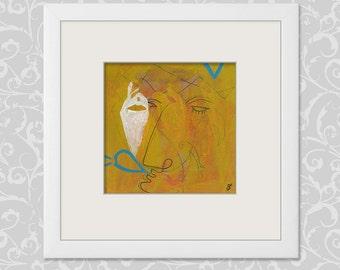 Acrylic painting Acrylic 15 x 15 cm (5.9 x 5.9 inch)