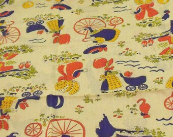 "Vintage Holly Hobbie 100% Cotton Fabric  36"" x 42"" (1 yard)"