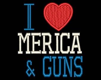 I Love Merica & Guns Patch