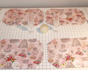 Reversible Romantic Placemats (Set of 6)