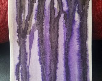 Black and Purple Watercolor Drip Painting