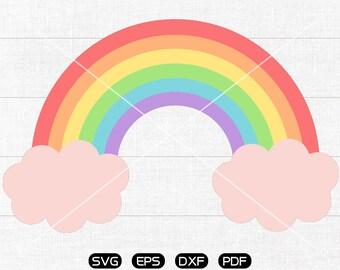 Rainbow SVG, Rainbow Clipart, cricut, silhouette cut files commercial use