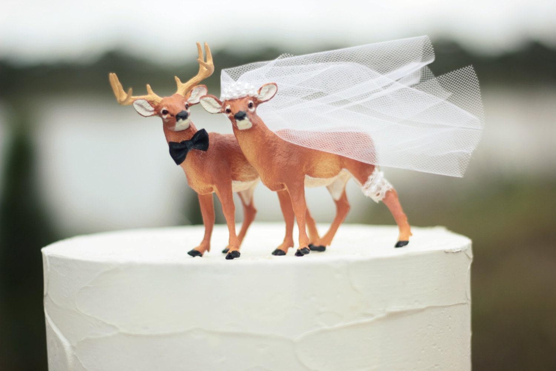 Deer Wedding Cake Topper Hunting
