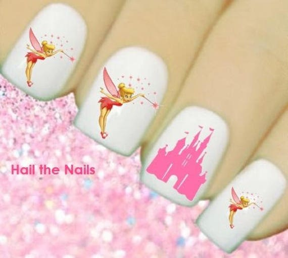 Tinkerbell Nails: Nails Nail Art Water Transfers Decals Wraps Tinkerbell Fairy