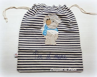 Children's bag for the sea with a bear