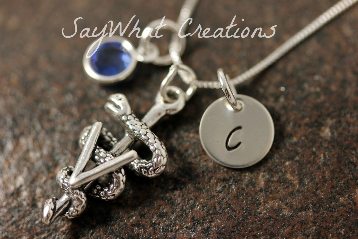 Veterinary necklace custom hand stamped sterling silver mini zoom buycottarizona Gallery
