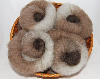 Shetland Brown Layered Spinning Batts - 5 ounces