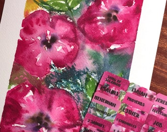 "STANDARD ""Shelby's Bouquet"" Multicolored Books of Bible Tabs by Victoria Anderson"