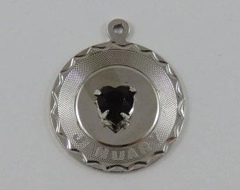 January Birthstone Sterling Silver Charm For Bracelet