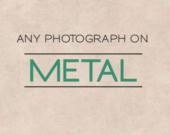 Metal photo print, ready to hang, fine art photograph, photograph on metal