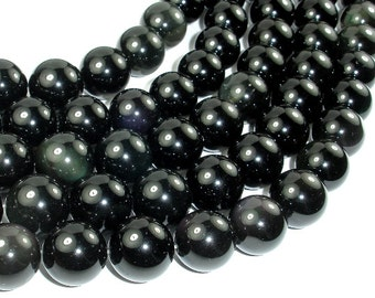 Rainbow Obsidian Beads, 16mm Round Beads, 15.5 Inch, Full strand, Approx 24 beads, Hole 1.2 mm (366054006)