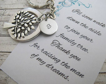 Father  of the Groom Gift From Bride, Thank You For Raising The Man Of My Dreams,   Family Tree Of Life  Key Chain,  Father Of Groom Gift