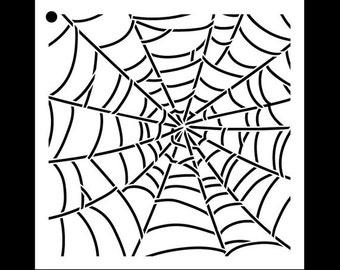 """Cobweb - Pattern Stencil - 6"""" x 6"""" - STCL1017_1 - by StudioR12"""