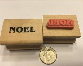 Noel rubber stamp, 25 mm (BR120)