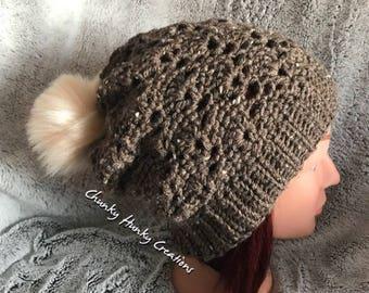 Crochet slouch beanie, crochet toque