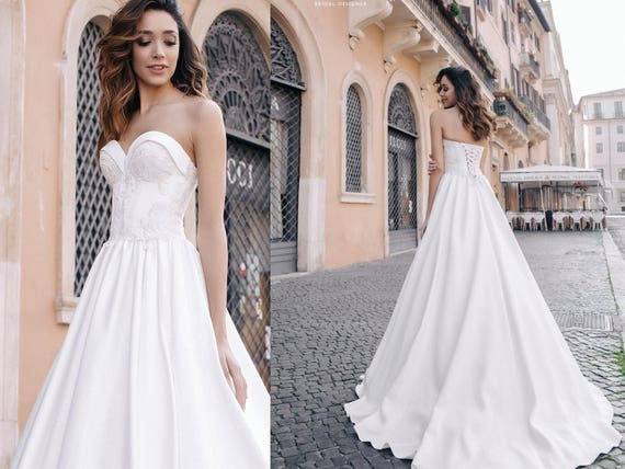 A line wedding dress sweetheart neckline bridal gowns sia junglespirit Images