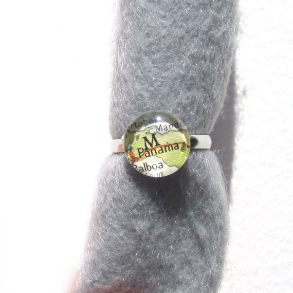 Personalized World map ring - Central America