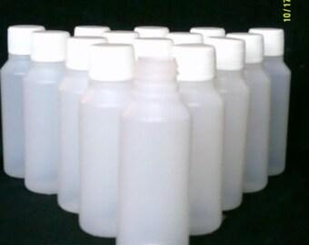 250 ml Flasche + Schraubverschluss Deckel klaren Kunststoff ideale Handwerk / Kosmetik / Reise / Hobby