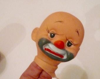 Clown Head Vintage Doll Head Doll Part HaPpY Sad Clown Head by VintageReinvented