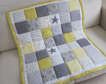 HANDMADE Patchwork  Baby quilt - Play Mat with Beatrix Potter fabric.