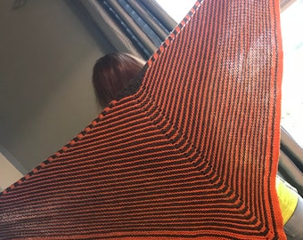 Unisex Hand Knit Shawl, 100 % wool