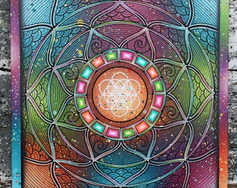 Sirius meditation mandala 50x50 cm
