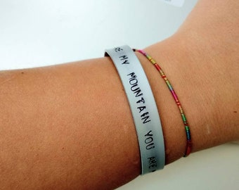 Biffy Clyro, Mountains, You are my mountain you are my sea, handstamped bracelet, jewellery for Biffy lovers, Mon the biff, Simon Neil