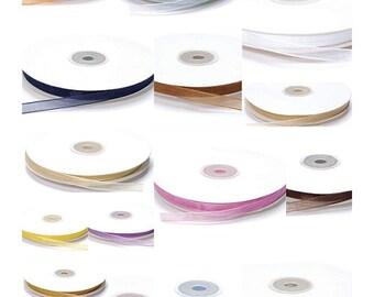 """Organdy Ribbon 1/4"""" width 50 Meters 16 Colors to Choose"""