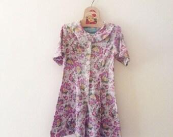 Vintage Floral Romper (Girls Size 6X)