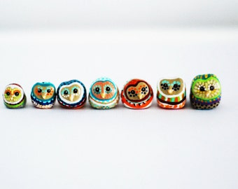 Customize Your Owl  / Barn Owl Totem / Owl Study / Colorful / Geometric / Owl Figurine / Choose Your Owl
